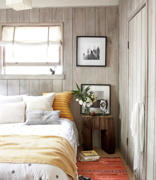 A cottage cabin getaway the inspired room for Cabin bedroom designs