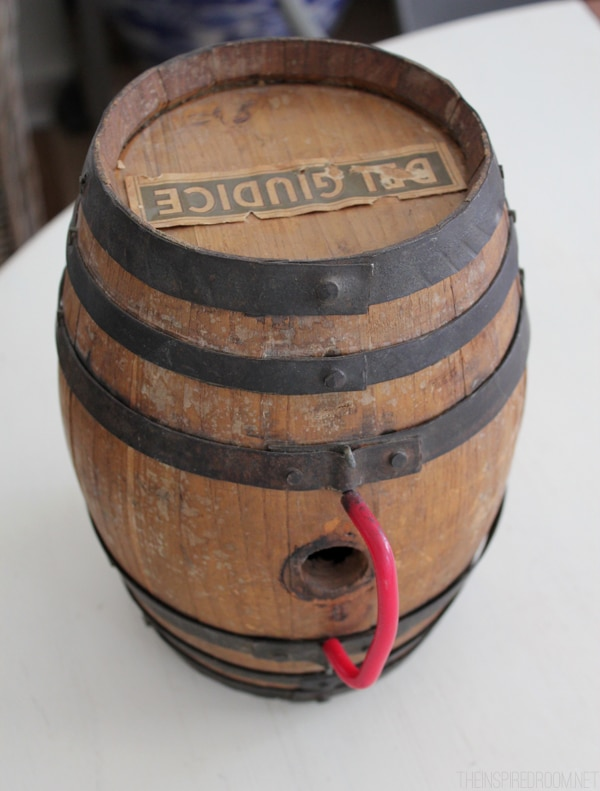 DIY Wine Barrel Lamp