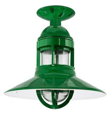 Green Barnlight Electric Flushmount