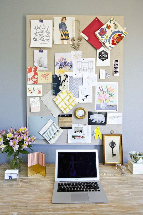 Home Office Inspiration Pin Board