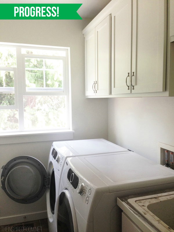 Laundry Room Progress - White Paint