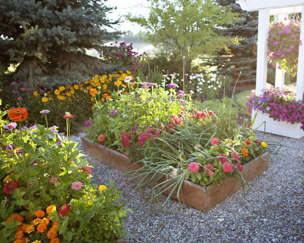 Raised Bed Flower Garden - The Meadowbrook Blog