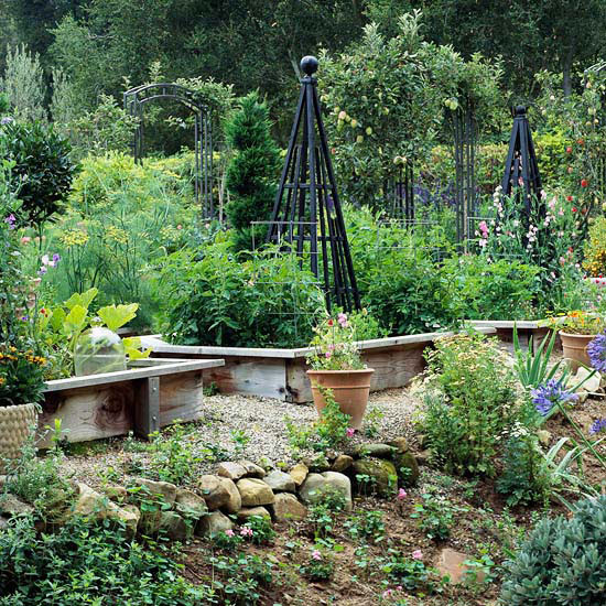 Raised Garden Beds with Trellises