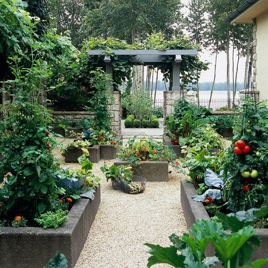 Raised garden bed inspiration the inspired room for Raised vegetable garden