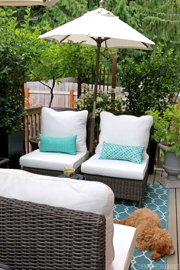My small backyard deck makeover before after the Small deck ideas