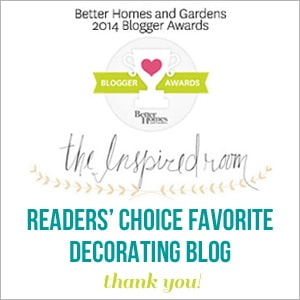 The Inspired Room Best Decorating Blog Better Homes and Gardens Awards 2014 with border