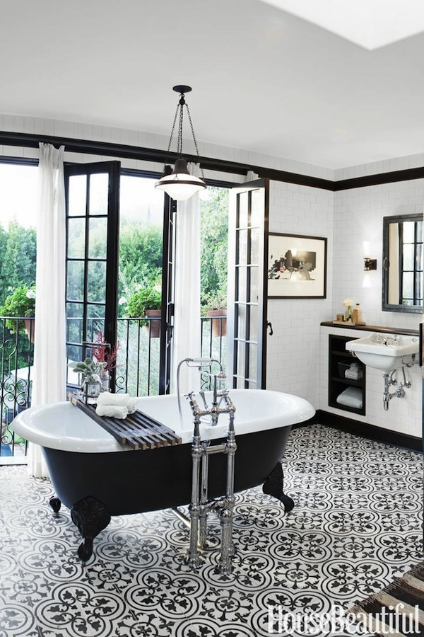 Black And White Diamond Bathroom Tiles Images