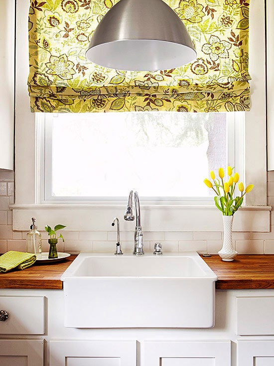 Floral Kitchen Roman Shade