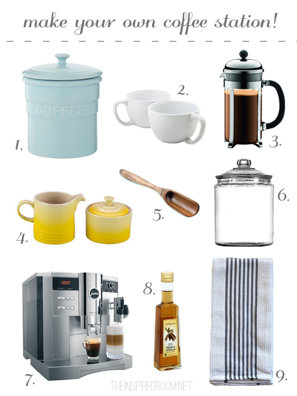 How to Make Your Own Coffee Station - The Inspired Room