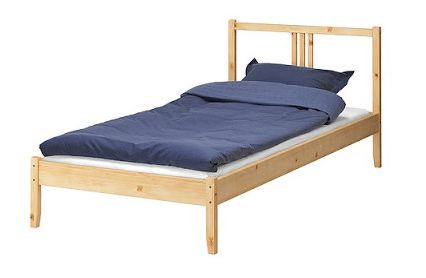 DIY Upholstered Fjellse Ikea Bed {Ikea Hack!}