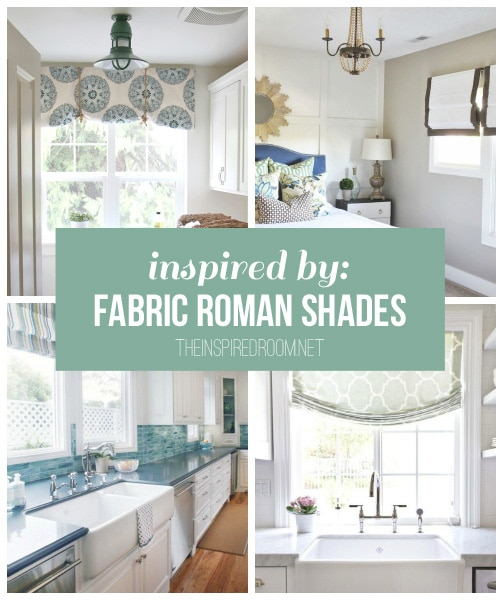 {Inspired By} Fabric Roman Shades