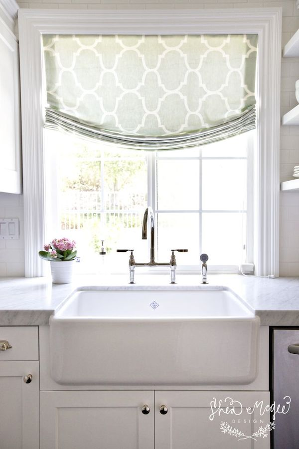 relaxed roman shades kitchen images