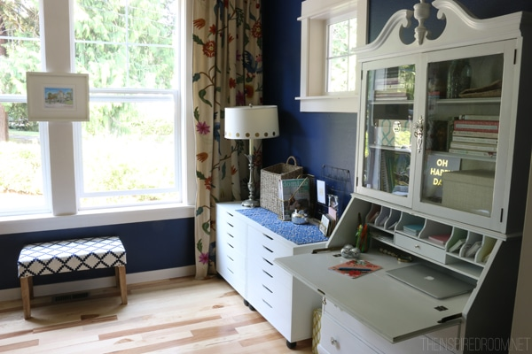 The Inspired Room Navy Blue Office Progress Update