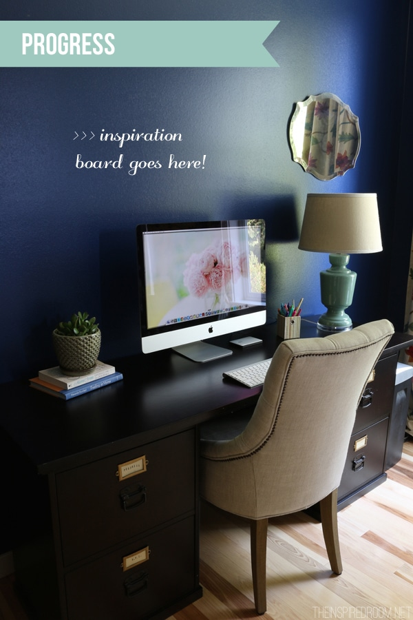 The Inspired Room Navy Office Progress Desk