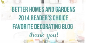 BHG Readers Choice Favorite Decorating Blog 2014 The Inspired Room