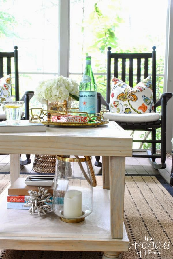 Pretty Screened Porch {The Chronicles of Home}