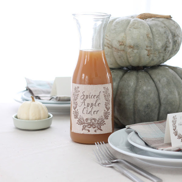 Coordinately Yours - How to Print on Fabric - Spiced Apple Cider Label