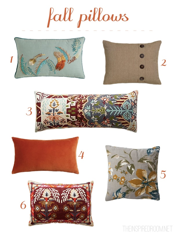 My New Fall Pillow {and a Fall Pillow Round Up}