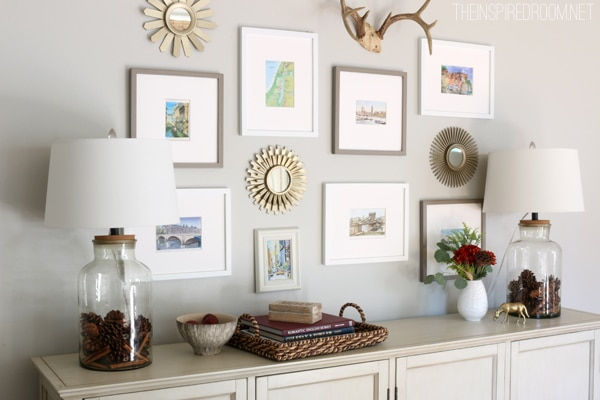 Fall house tour part two the inspired room for Console table decor ideas