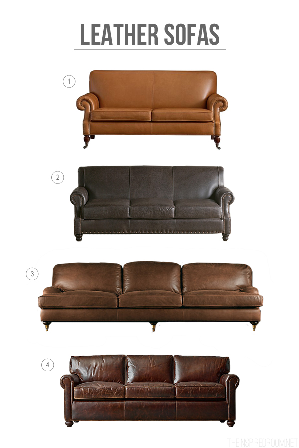 Decorating with Leather {The New Sofa}