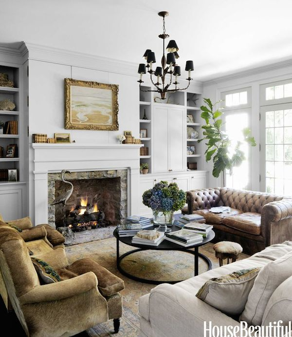 Living Room Decor Inspiration: Decorating With Leather {The New Sofa}