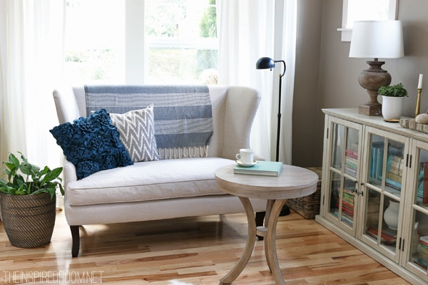 Reading Corner - Birch Lane Settee - The Inspired Room