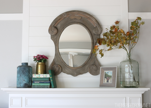 Simple Fall Mantel - The Inspired Room