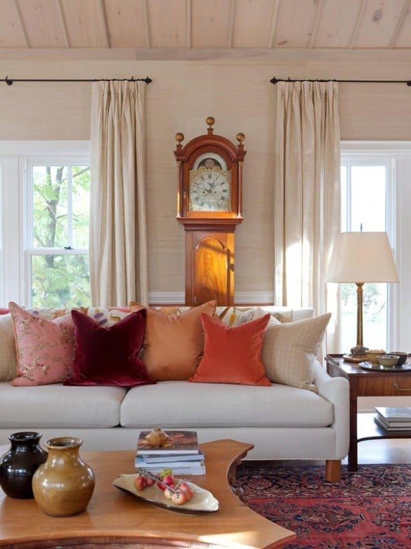 Design My Own Living Room Online Free: Rust, Coral & Orange Fall Inspired Rooms {Day 4: Loving