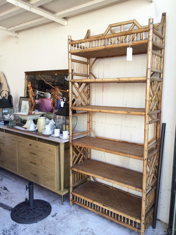 Flea Market - Rattan Bookshelf - The Inspired Room