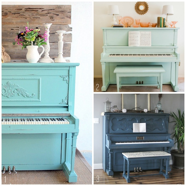 Pianos in the Home - Blue Painted Pianos