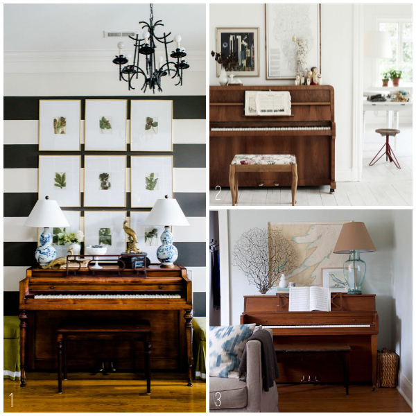 Inspired By Pianos In The Home The Inspired Room: how to decorate a house with two living rooms