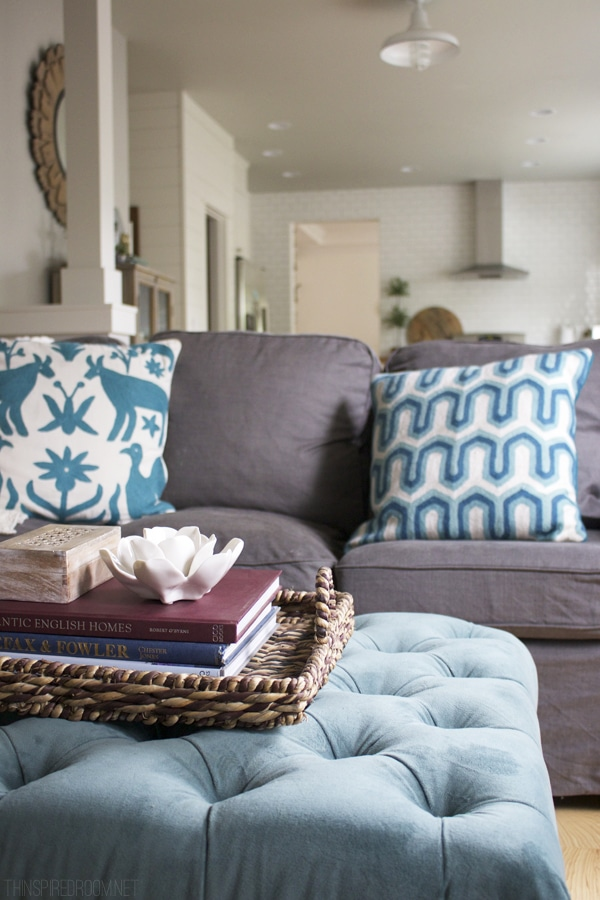 The Inspired Room Family Room - Cozy Imperfections