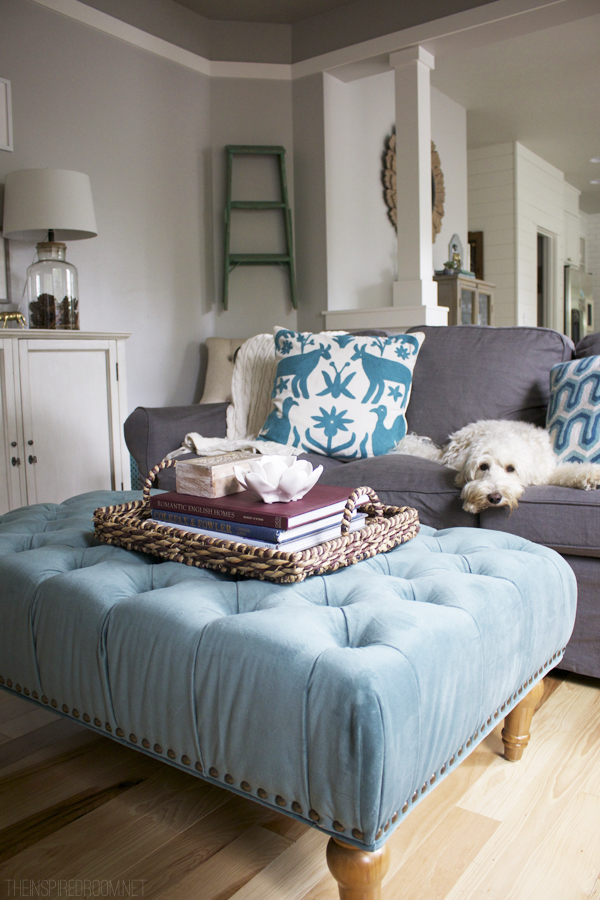 The Inspired Room Family Room Decorating - Lily the Labradoodle