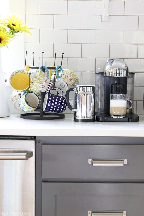 Coffee Station - Mug Rack and Nespresso