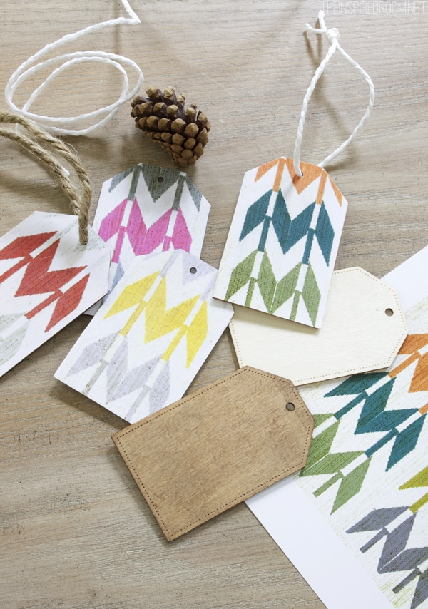 DIY Mod Podge Paper Backed Wood Gift Tags
