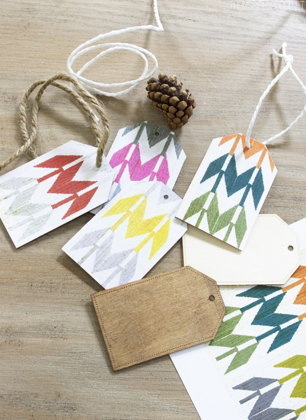 DIY Paper Backed Wooden Gift Tags