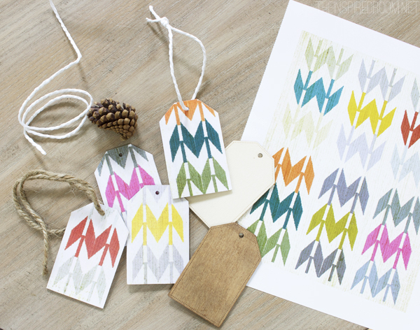DIY Patterned Paper and Wood Gift Tags