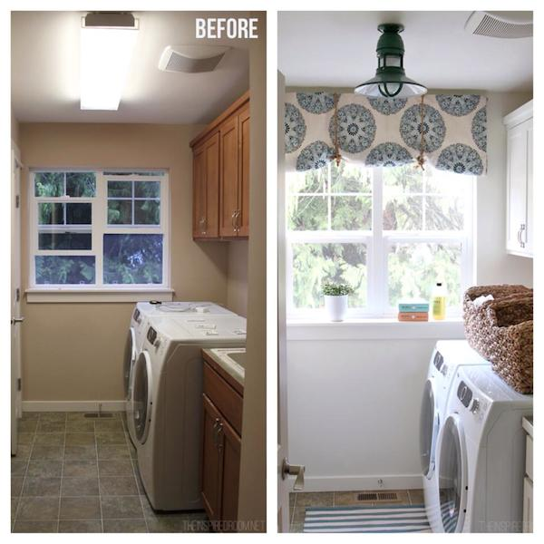 Laundry Room Makeover Progress - The Inspired Room