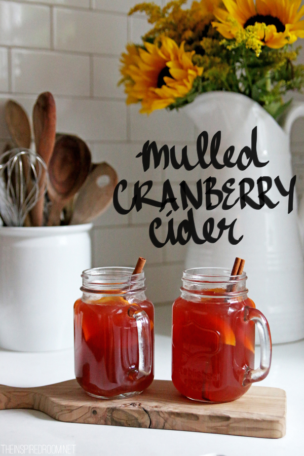 Mulled Cranberry Apple Cider {Day 13: Loving Fall}