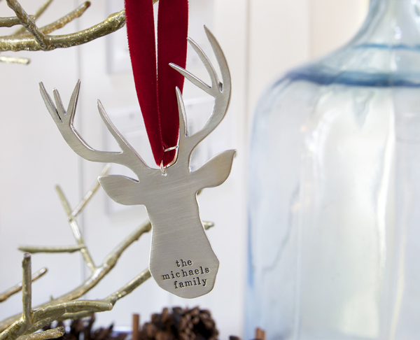 The Vintage Pearl Deer Christmas Ornament