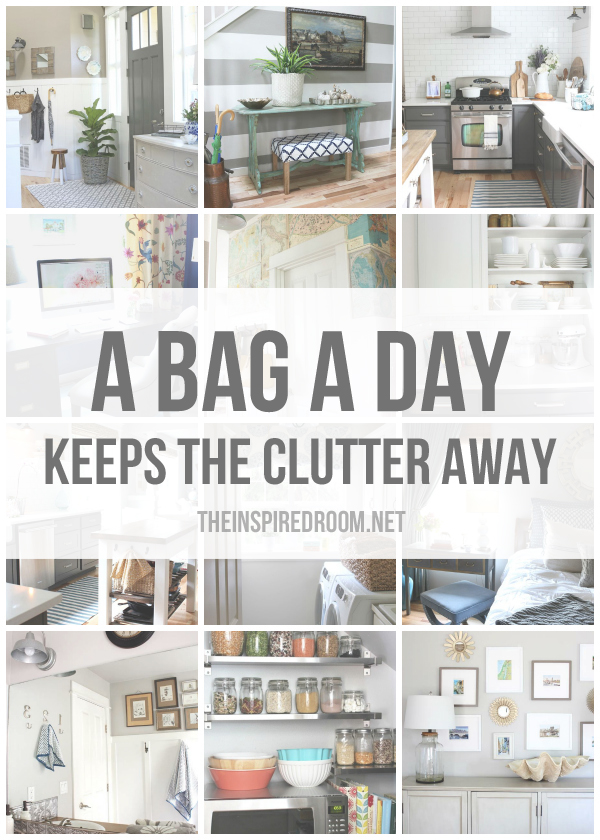 A bag a day keeps the clutter away 12 months of Small home organization