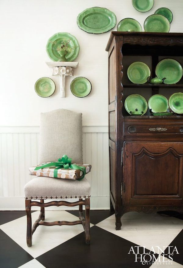 Inspired Christmas {Decorating With Green} - The Inspired Room