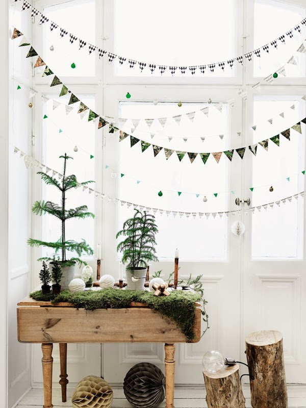 Christmas Decorating with Green - Scandinavian Design- Petra Bindel for Elle Decor