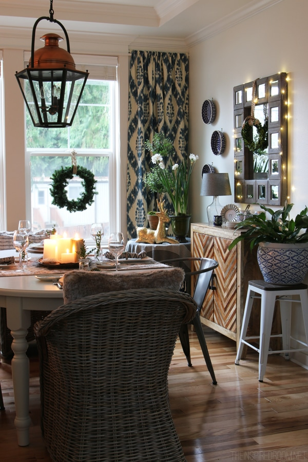 Christmas Dining Room - The Inspired Room Blogger House Tour