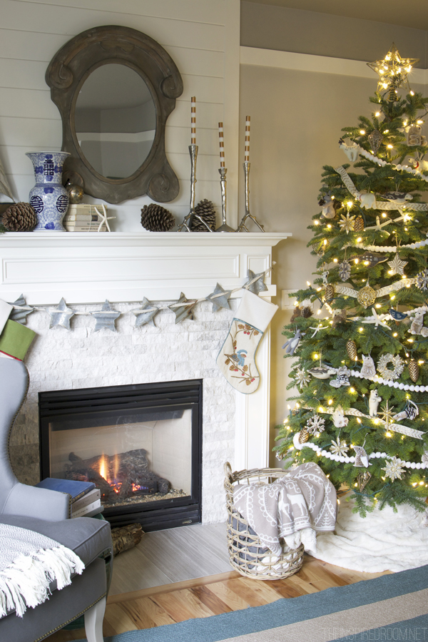 Christmas Family Room Decorating - The Inspired Room House Tour