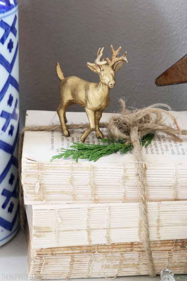 Christmas House Tour - Gold Deer - The Inspired Room