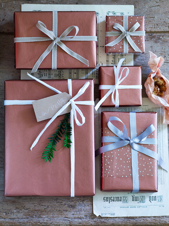 Copper Gift Wrap - Cox and Cox
