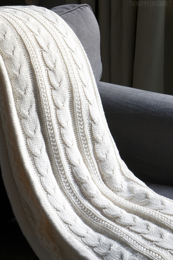 Cozy Cable Knit Throw - Pottery Barn - The Inspired Room