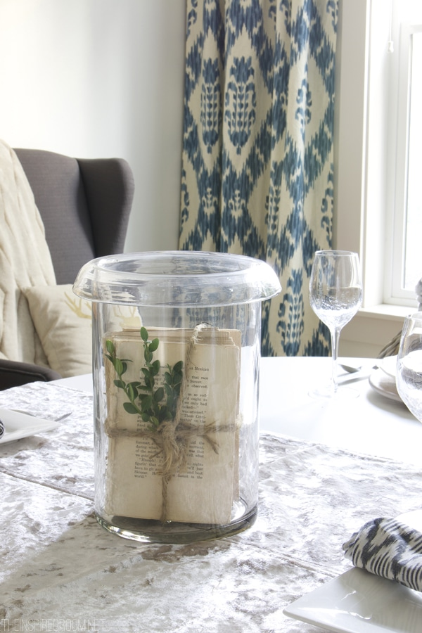 Easy Centerpiece - Book Pages in a Hurricane - The Inspired Room
