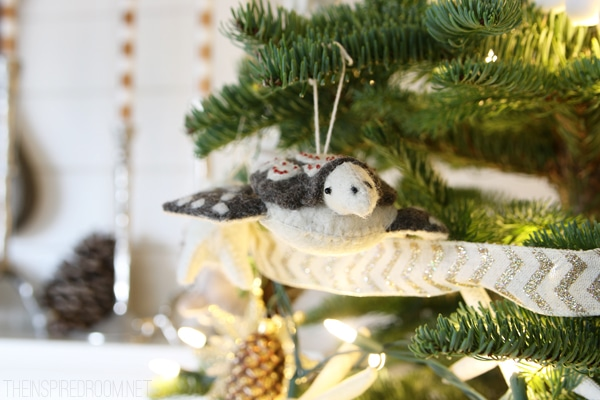 Felt Sea Turtle Ornament - Forest and Sea Christmas Tree - The Inspired Room House Tour